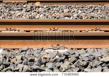 Detail Of Train Rails - Italy