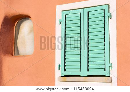 Detail Of Window - Liguria Italy