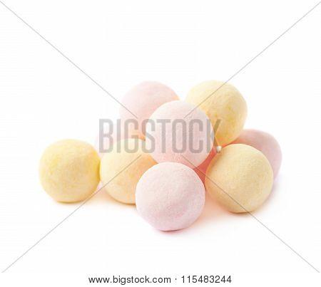 Pile of sugar coated balls