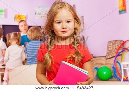 Portrait of little girl in developmental class