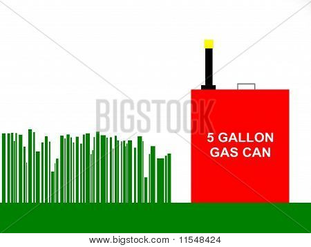 Tall Grass and Gas Can Background