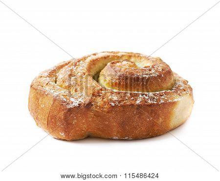Sweet roll bun isolated