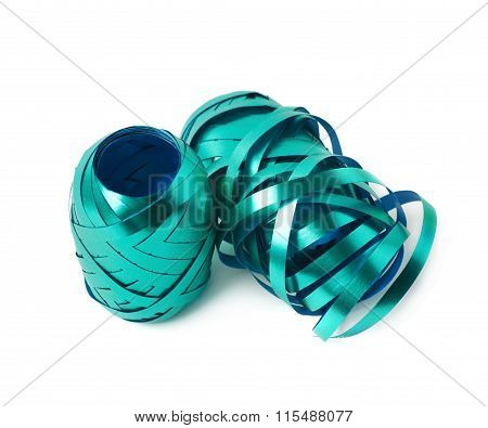 Glossy ribbon reel isolated
