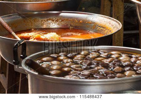 Thai Food In Pans