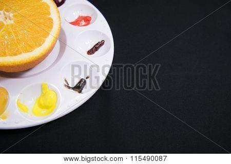 Pallet and Orange