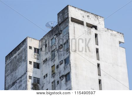 Old Brazilian Apartment High Rise Building