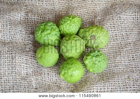 kaffir Lime or Bergamot fruit