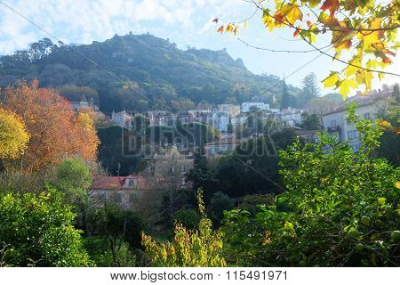 General view of portuguese romantic town of Sintra
