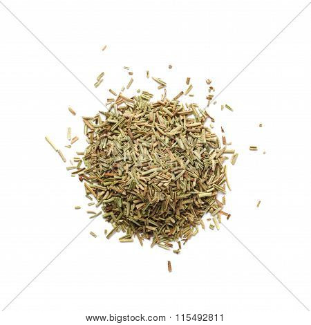 Pile of dried rosmarinus seasoning