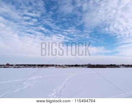 Winter River Irtysh