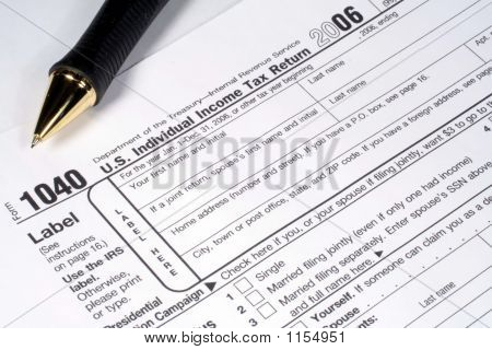 Income Tax Return And Pen