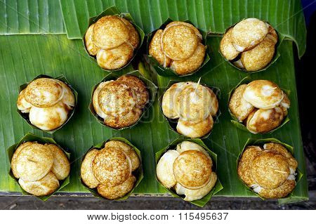 Top View Of Sweet And Savory Grilled Coconut