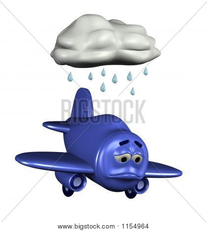 Sad Emoticon Plane