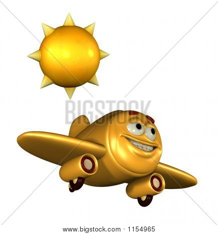 Happy Emoticon Plane