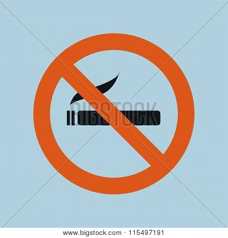 Sign, Icon Smokes No Smoking, Sigreta. Vector