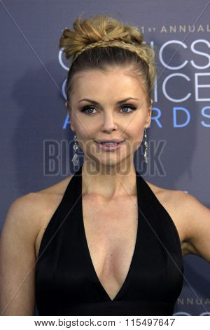 LOS ANGELES - JAN 17:  Izabella Miko at the 21st Annual Critics Choice Awards at the Barker Hanger on January 17, 2016 in Santa Monica, CA