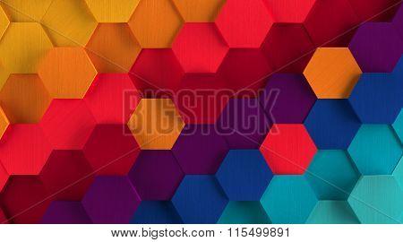 Multicolored Hexagon Background