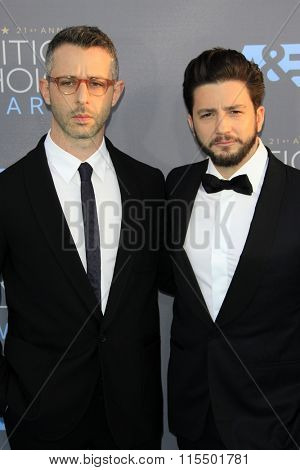LOS ANGELES - JAN 17:  Jeremy Strong, John Magaro at the 21st Annual Critics Choice Awards at the Barker Hanger on January 17, 2016 in Santa Monica, CA