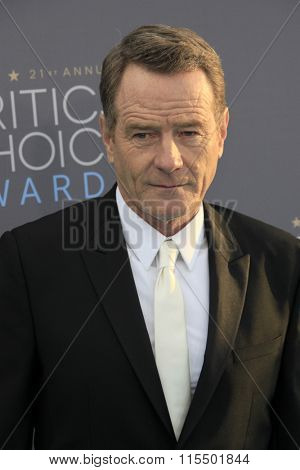 LOS ANGELES - JAN 17:  Bryan Cranston at the 21st Annual Critics Choice Awards at the Barker Hanger on January 17, 2016 in Santa Monica, CA