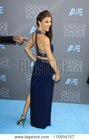 LOS ANGELES - JAN 17:  Samantha Harris at the 21st Annual Critics Choice Awards at the Barker Hanger on January 17, 2016 in Santa Monica, CA