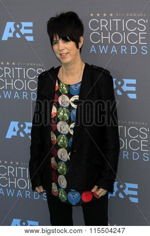 LOS ANGELES - JAN 17:  Diane Warren at the 21st Annual Critics Choice Awards at the Barker Hanger on January 17, 2016 in Santa Monica, CA