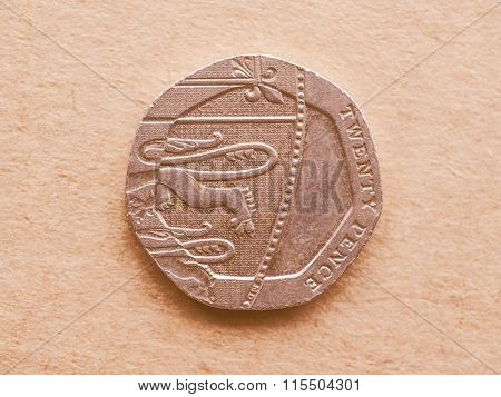 20 Pence Coin Vintage