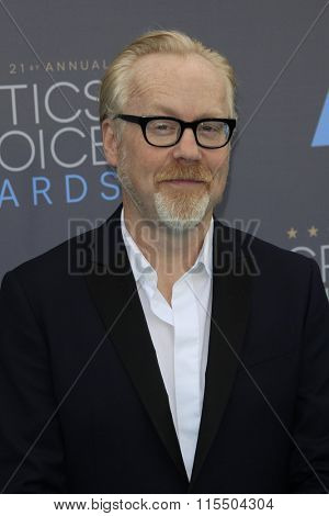 LOS ANGELES - JAN 17:  Adam Savage at the 21st Annual Critics Choice Awards at the Barker Hanger on January 17, 2016 in Santa Monica, CA
