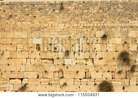 Closeup Of Wailing Wall