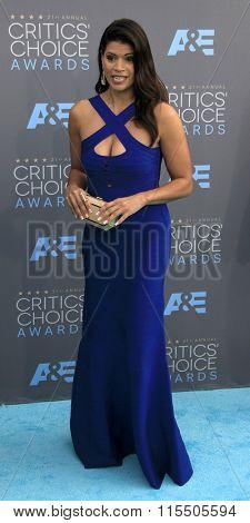 LOS ANGELES - JAN 17:  Andrea Navedo at the 21st Annual Critics Choice Awards at the Barker Hanger on January 17, 2016 in Santa Monica, CA