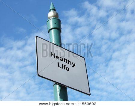 gesund leben-Zeichen
