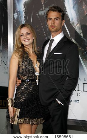 Ruth Kearney and Theo James at the Los Angeles Premiere of