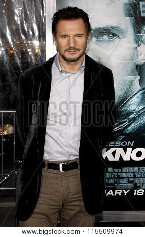 Liam Neeson at the Los Angeles Premiere of