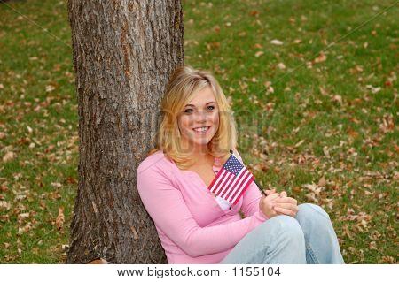 Flag Woman