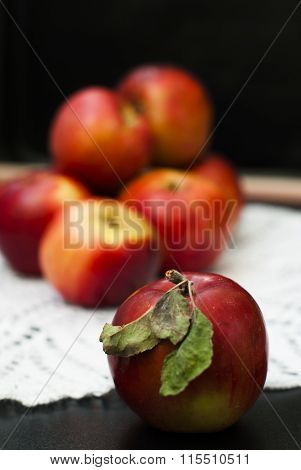 Red fresh apples