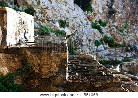 Stone Stairs under Water