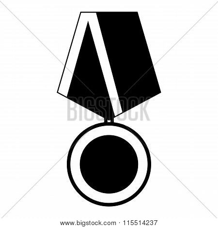 Medal black simple icon