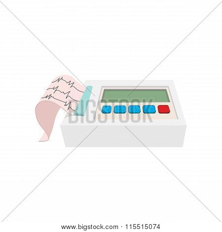 Printing of cardiogram cartoon icon