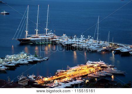 Night View Of Naples Marina
