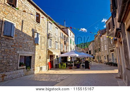 Colorful Stone Streets Of Stari Grad