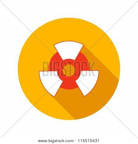 Nuclear power flat icon