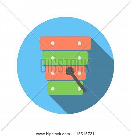 Xylophone flat icon
