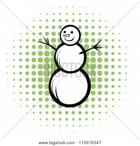 Snowman comics icon