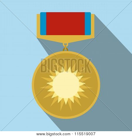 Medal of valor flat icon