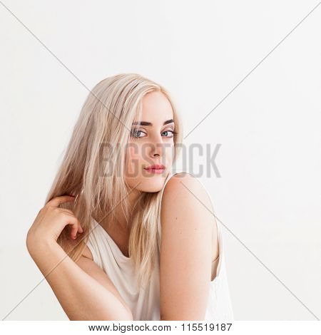 Girl With Blond Dyed Hair