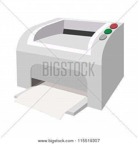 Printer cartoon icon