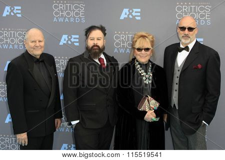 LOS ANGELES - JAN 17:  Michael Westmore, Glenn Hetrick, Ve Neill, Neville Page at the 21st Annual Critics Choice Awards at the Barker Hanger on January 17, 2016 in Santa Monica, CA