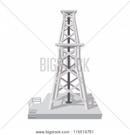 Oil rig cartoon icon
