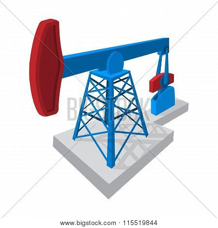 Oil pump cartoon icon