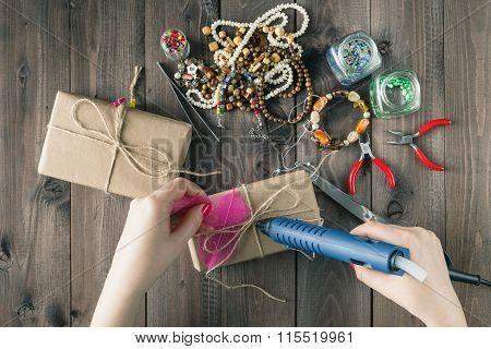 Woman Glue Gift Box