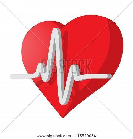 Heartbeat cartoon icon